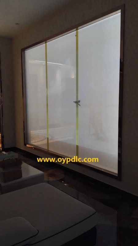 switchable smart glass in linyi city shangdong province privacy smart glass switchable pdlc. Black Bedroom Furniture Sets. Home Design Ideas