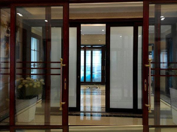 smart glass sliding door off